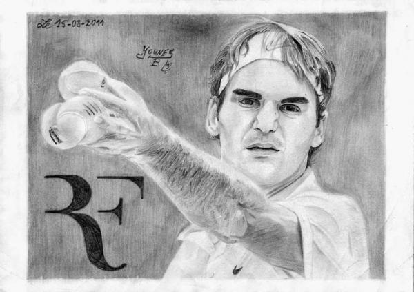 Roger Federer por Yanis_dessin